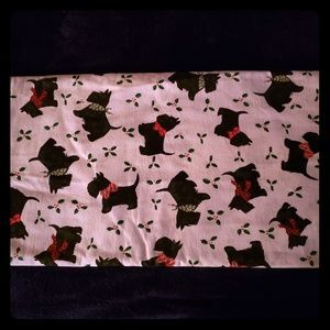Daisy Kingdom Christmas Scottie Dog Fabric 3 Yards
